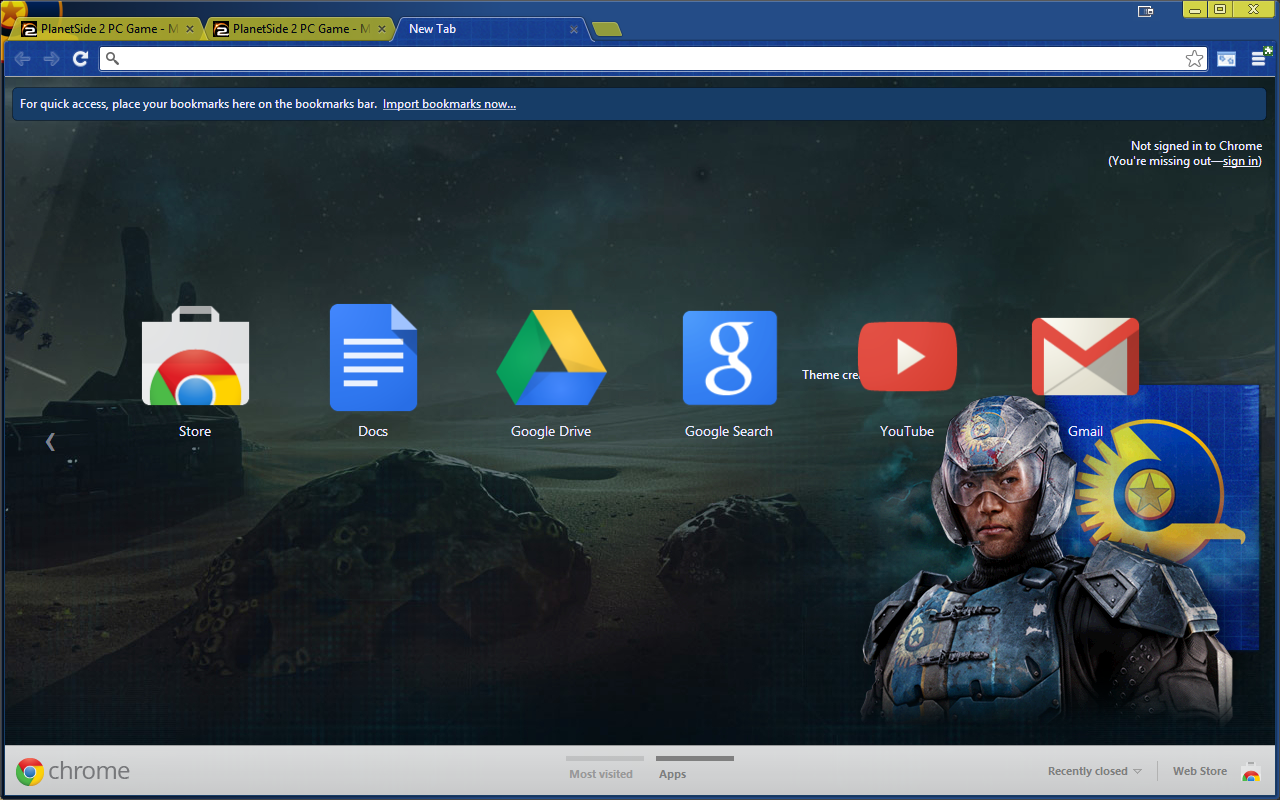Planetside 2 New Conglomerate Chrome theme update v1.1.3