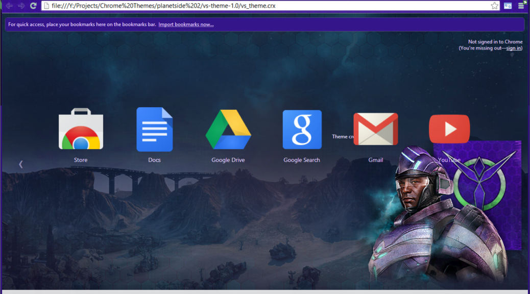 Vanu Sovereignty chrome theme screenshot