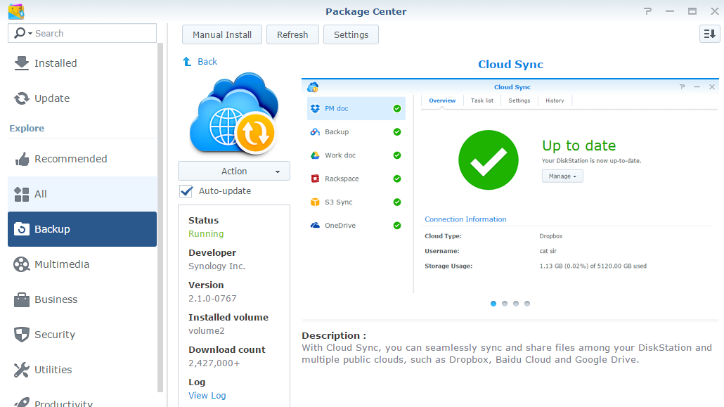Synology - Package Center