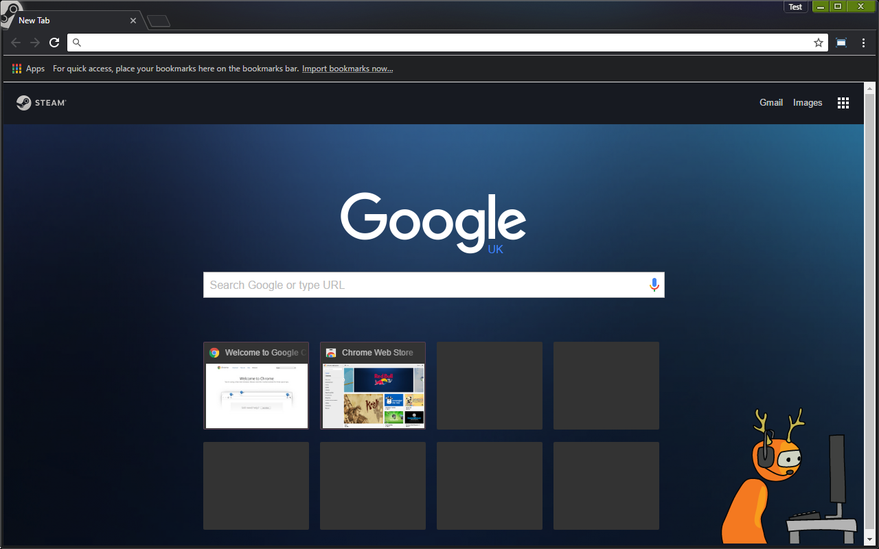 Google Chrome Theme: Steam Powered